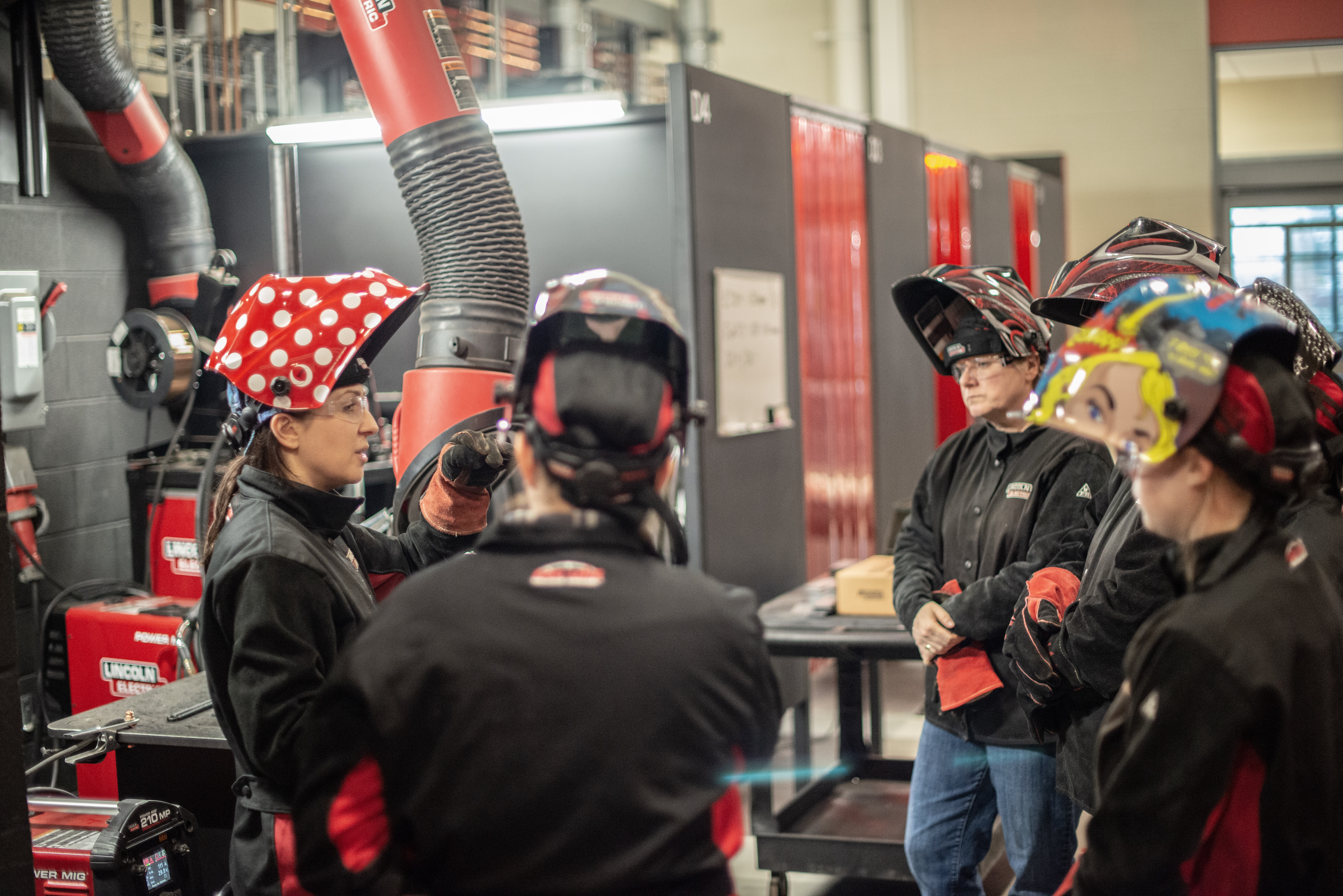 Olivia McCleery leads a women-only welding class at Lincoln Electric