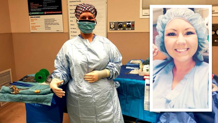 'My favorite part about my job is knowing that you are making a difference in someone's life,' said surgical technologist Shana Frazee.
