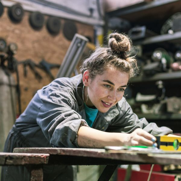 In many of the skilled trades, the gender wage gap is almost nonexistent, making the trades especially attractive for women. (Credit: Aerogondo2/Shutterstock)